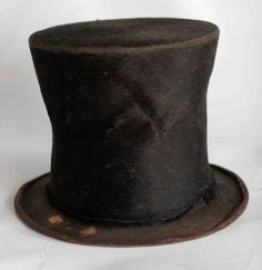 Abraham Lincoln's iconic stovepipe hat is on display at the Abraham Lincoln Presidential Library and Museum in Springfield, Ill.