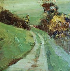 country lane, painting by artist Parastoo Ganjei. I love the feel this has