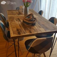Diy Video Tutorial: Pallet/Crate Dining Table DIY Pallet Video TutorialsPallet Desks & Pallet Tables