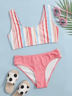 Bathing Suits For Teens, Cute Bathing Suits, Moda Kids, Summer Outfits, Girl Outfits, Kids Suits, Cute Swimsuits, Trendy Swimwear, Jumpsuits For Girls