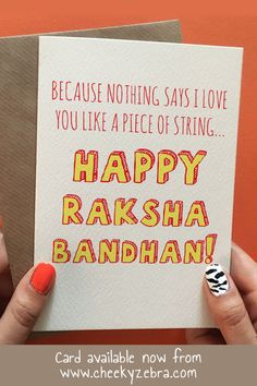 Funny rakhi and raksha bandhan cards to make your brohter laugh this year! We also have a limited number of rakhis which you can add to your order. #rakhicard #rakshabandhan Raksha Bandhan Cards, Raksha Bandhan Quotes, Raksha Bandhan Greetings, Rakhi Cards, Say I Love You, My Love, Happy Rakshabandhan, Your Brother, Kraft Envelopes