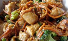 Crock Pot Chicken Lo Mein--2 T. butter 20 oz. package boneless skinless chicken thighs, cut into bite-sized pieces 1 c. stir-fry seasoning sauce 5 oz. can sliced water chestnuts, drained 1 medium onion, sliced 16 oz. package fresh stir-fry vegetables (celery, carrots, broccoli and pea pods) 1/2 c. whole cashews, if desired 8 oz. package lo mein noodles Optional: 1 tsp. ginger paste