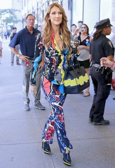Celine Dion is flawless in head-to-toe Versace while out in NYC #VersaceCelebrities
