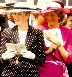 Princess Diana and Sarah Ferguson.....Uploaded By  www.1stand2ndtimearound.etsy.com