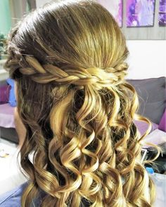 Highlights and wedding hairstyle with braids! 😊