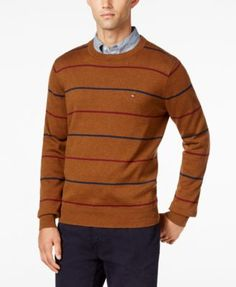 TOMMY HILFIGER Tommy Hilfiger Men'S Signature Striped Sweater. #tommyhilfiger #cloth # sweaters