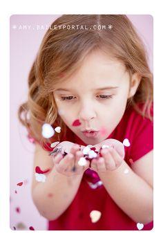 cute valentines day idea, confetti hearts