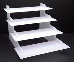 4 step White Acrylic Display Stand: Amazon.co.uk: Kitchen & Home
