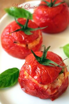 risotto stuffed tomatoes... for when my garden is growing wild this summer