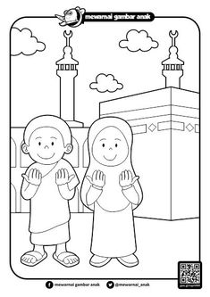 Gambar Mewarnai Ramadhan Teaching Kids, Kids Learning, Puppy Coloring Pages, Muslim Family, Adult Coloring, Colouring, School Worksheets, Ramadan Decorations, Indoor Activities For Kids