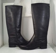 dff6b132bc1 La Canadienne Sarit Black Leather Waterproof Women s Knee High Boots Size  9.5 M