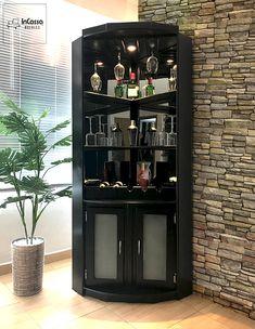 Corner Liquor Cabinet, Home Bar Cabinet, Liquor Cabinet Furniture, Home Bar Furniture, Modern Drinks Cabinet, Corner Home Bar, Minimalist Home Furniture, Modern Home Bar, Home Bar Designs