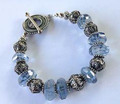 December Bride Bracelet Faceted Topaz Nuggets by StoneStreetStudio