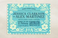 Cinco de Mayo fiesta invitations...perfect for a a party, rehearsal dinner, or bridal shower