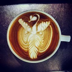 Wow! That is all. #latteart #coffee