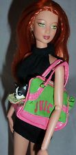 BARBIE DOLL JUICY COUTURE BLACK BROWN CHIHUAHUA DOG TOTE BAG PURSE ACCESSORY LOT