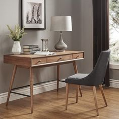 Shop for Aksel Brown Wood 3-Drawer Writing Desk by MID-CENTURY LIVING. Get free shipping at Overstock.com - Your Online Furniture Outlet Store! Get 5% in rewards with Club O!