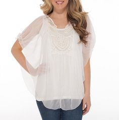 Sheer Top with Crochet Yoke - Go-To Spring Looks - Events
