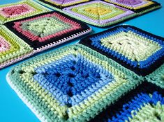 crochet afghan throw lap rug blanket motif granny square Ravelry by terhimon, via Flickr