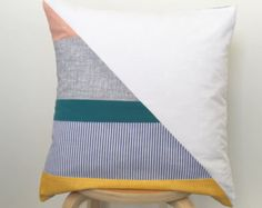 contemporary patchwork cushion cover