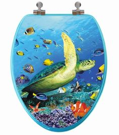 Peel /'N Place Shark Toilet Topper Joke Gag