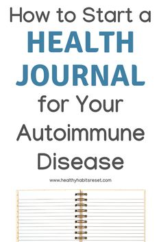 Since the symptoms of autoimmune disease are so vast and complex, it's difficult to recognize patterns and triggers. A daily health journal can help tremendously! Here's how to start one + a free printable if you'd rather just use a pre-made template. Thyroid Symptoms, Thyroid Disease, Thyroid Health, Hypothyroidism, Crohn's Disease, Mental Health, Autoimmune Disease Awareness, Autoimmune Diet, Chronic Disease Management