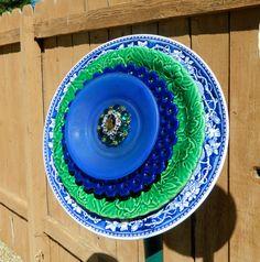 STRIKING Glass yard art garden art forever by 3SisterzJewelry