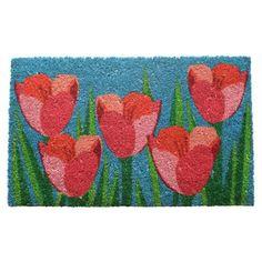 Field of Tulips Coir Doormat
