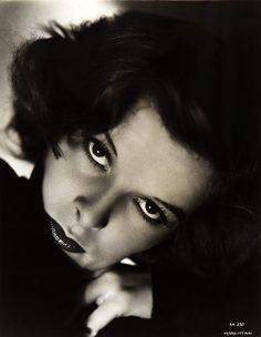 Katherine Hepburn. Staring. Like a star.