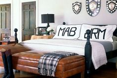 bed styling / pillowcases