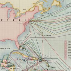 I love love love this submarine cable map! Lead artists Markus Krisetya and Larry Lairson.