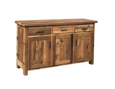 Amish Reclaimed Edinburgh Server Plenty of storage for your favorite dishes and serving items plus rich barnwood displaying lots of color. Amish made in Ohio.