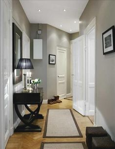 {grey walls.} Would be really Really pretty with white trim!