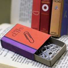 Matchbox Book Covers for Office Supplies Free Printable Crafts