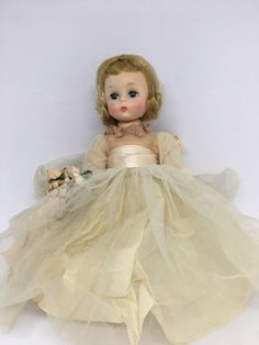 Blonde hair blue sleep eyes. All accessories present. Bent knee walker doll. Maker / country of origin : Madame Alexander. Alexander Kins. Condition : very good condition doll and hair. Some soiling to clothing from storage.   eBay!