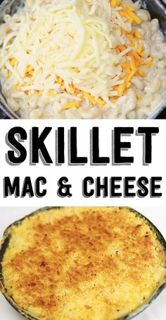 This Skillet Mac 'N' Cheese Is The Ultimate Easy Meal Use Miracle Noodles, heavy whipping cream, leave out the bread crumbs or use almond bread crumbs, and have a low carb dish! Cheese Recipes, Great Recipes, Cooking Recipes, Favorite Recipes, Pasta Recipes, Skillet Mac And Cheese, Mac Cheese, One Pot Meals, Easy Meals