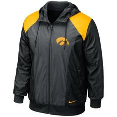Rev up your Hawkeyes athletics-enthused abilities with this Classic full zip hoodie wind jacket from Nike! Featuring an embroidered school wordmark on the left chest: vibrant team-colored panels and a lightweight fabric thats ideal for any weather: this comfy Iowa-spirited jacket is the perfect jumpstart to your vigorous outdoorsy workout routine!