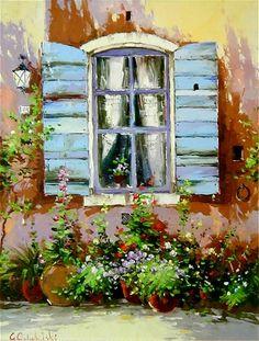 Resultado de imagen para pinturas al oleo de puertas y ventanas