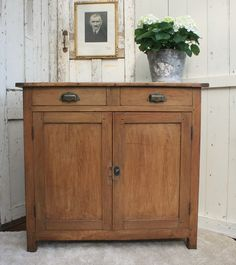 Vintage French Solid Wood Cupboard/Buffet/Dresser by Restored2bloved on Etsy