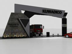Kuwadico gate on behance exhibition design inspiration, design. Main Gate Design, Door Gate Design, Entrance Design, Entrance Gates, Grand Entrance, Compound Wall Design, Tor Design, Mall Facade, Corporate Event Design