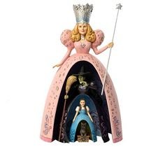 There's no one like Jim Shore to portray the magic of the classic movie The Wizard of Oz. This masterful four-piece nestling doll combines Glinda, the Wicked Witch, Dorothy, and her little dog Toto. Display them separately or together. From the Heartwood Creek Collection by Jim Shore. QVC.com