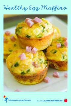 Make these egg muffins for a fast, healthy breakfast on-the-go. You can get get creative by adding broccoli, fresh spinach, mushrooms or asparagus. Substitute cheddar cheese with feta, goat cheese or swiss.