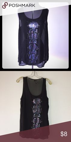 """Bundle for $5 : Sheer Sequin Tank Sheer Sequin Tank from Maurices. Size 1, which is the same as a 16/18 per the stores size chart, measures: 22"""" across chest, 30"""" long. 100% poly. FMo/010217 Maurices Tops Tank Tops"""