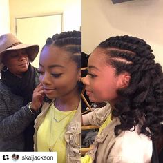 "3,564 Likes, 81 Comments - Felicia Leatherwood (@lovingyourhair) on Instagram: ""#Repost @skaijackson with @repostapp ・・・ And she does it again! #bts with @lovingyourhair / styled…"""