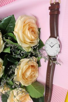 With soft fragrance of the rose and my beloved WellyMerck watch to start a wonderful day.