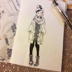 """Hello inner child, I'm the inner babysitter"" - Susan Sto Helit Felt like putting her in a modern winter outfit."