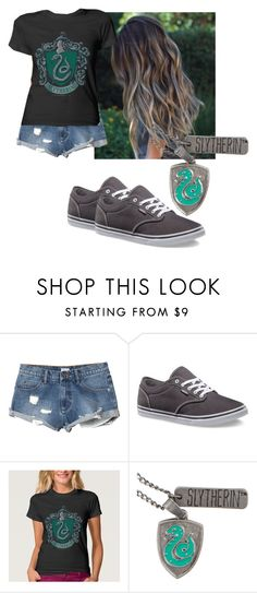 """""""Slytherin girl"""" by flashinglights-397 on Polyvore featuring RVCA, Vans, women's clothing, women, female, woman, misses and juniors"""