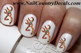 50 pc RealTree Mossy Oak Blaze Orange Browning  Nail Decals Nail Art Nail Stickers Best Price NC519
