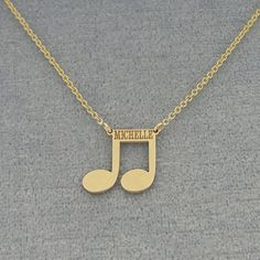 This cute and chic 18K Gold Plated Name Engraved Music Note Charm Necklace is the perfect gift for anytime of the year. Select any name or initials of your choice to be engraved on this special music note pendant, which is beautifully crafted by solid Sterling Silver hanging on the sturdy Rollo chain. This name engraved pendant in fine quality Sterling Silver is cut out by latest technology laser machine with top quality guaranteed and high polished finish. The chain is optional and all the…