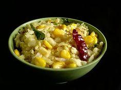 Indian Cuisine: Corn Poha ~ Beaten Rice with Corn